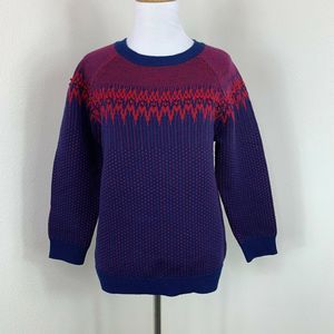 J Crew Festive Holiday Pullover Wool Sweater M